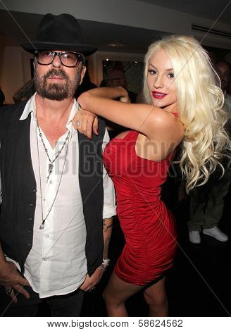 Dave Stewart and Courtney Stodden at Dave Stewart: Jumpin' Jack Flash & The Suicide Blonde Photography Exhibit, Morrison Hotel Gallery, West Hollywood, CA 07-12-13