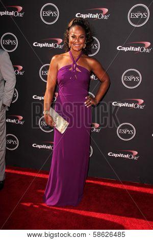 Laila Ali at The 2013 ESPY Awards, Nokia Theatre L.A. Live, Los Angeles, CA 07-17-13