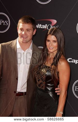Danica Patrick and Ricky Stenhouse at The 2013 ESPY Awards, Nokia Theatre L.A. Live, Los Angeles, CA 07-17-13