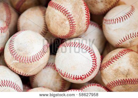 old practice baseballs
