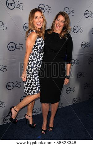 Sasha Alexander and Lorraine Bracco at the TNT 25th Anniversary Party, Beverly Hilton Hotel, Beverly Hills, CA 07-24-13