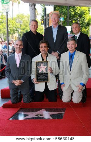 Joe Mantegna with Ed Begley Jr. and Paul Reiser at the Peter Falk Star on the Hollywood Walk of Fame Ceremony, Hollywood, CA 07-25-13