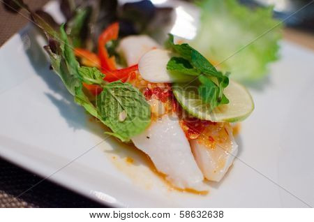 Steamed Fish With Lemon And Chili Sauce