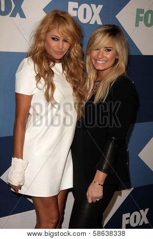 Paulina Rubio and Demi Lovato at the Fox All-Star Summer 2013 TCA Party, Soho House, West Hollywood, CA 08-01-13