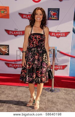 Amy Brenneman at the World Premiere Of Disney's Planes, El Capitan, Hollywood, CA 08-05-13