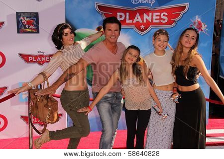 Lorenzo Lamas and family at the World Premiere Of Disney's Planes, El Capitan, Hollywood, CA 08-05-13