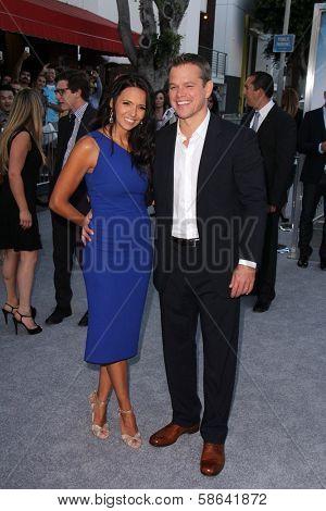 Luciana Barroso, Matt Damon at the