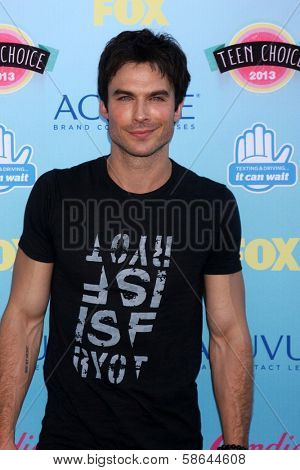 Ian Somerhalder at the 2013 Teen Choice Awards Arrivals, Gibson Amphitheatre, Universal City, CA 08-11-13