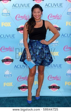 Jenna Ushkowitz at the 2013 Teen Choice Awards Arrivals, Gibson Amphitheatre, Universal City, CA 08-11-13