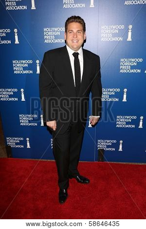 Jonah Hill at the Hollywood Foreign Press Association's 2013 Installation Luncheon, Beverly Hilton, Beverly Hills, CA 08-13-13