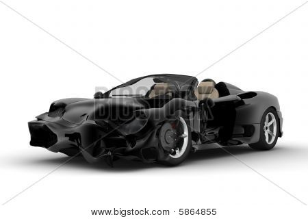 Black Accident Car
