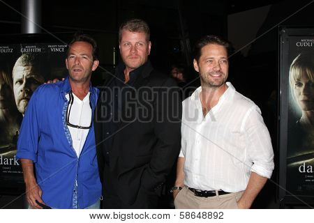 Luke Perry, Michael Cudlitz and Jason Priestley at the