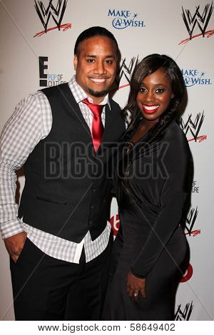 Jimmy Uso and Naomi at Superstars for Hope honoring Make-A-Wish, Beverly Hills Hotel, Beverly Hills, CA 08-15-13