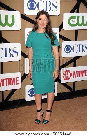 Mayim Bialik at the CBS, Showtime, CW 2013 TCA Summer Stars Party, Beverly Hilton Hotel, Beverly Hills, CA 07-29-13