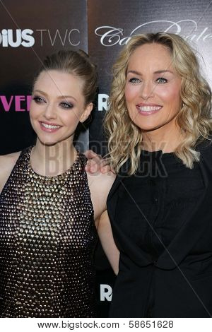 Amanda Seyfried and Sharon Stone at the