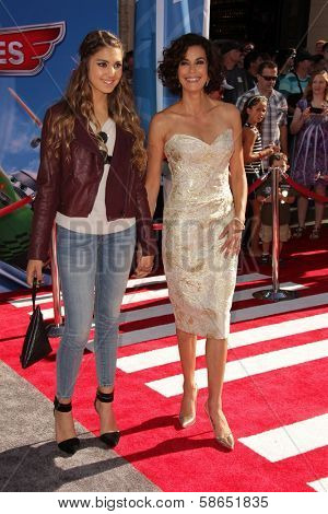 Emerson Tenney, Teri Hatcher at the World Premiere Of Disney's Planes, El Capitan, Hollywood, CA 08-05-13