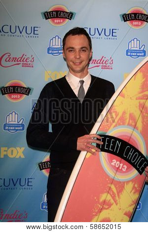 Jim Parsons at the 2013 Teen Choice Awards Press Room, Gibson Amphitheatre, Universal City, CA 08-11-13