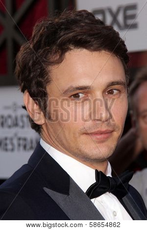 James Franco at the Comedy Central Roast Of James Franco, Culver Studios, Culver City, CA 08-25-13