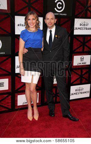 June Diane Raphael and Paul Scheer at the Comedy Central Roast Of James Franco, Culver Studios, Culver City, CA 08-25-13