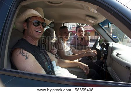 Chris Browning, Mark Burnham, Patricio Valledares on set of