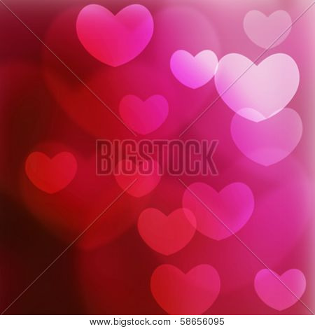 Texture, Abstract Background Is The Heart In Love Bokeh Light For Valentine Day, Happy New Year Day,