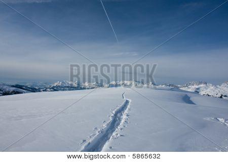 Winter Alpine landscape. Davos