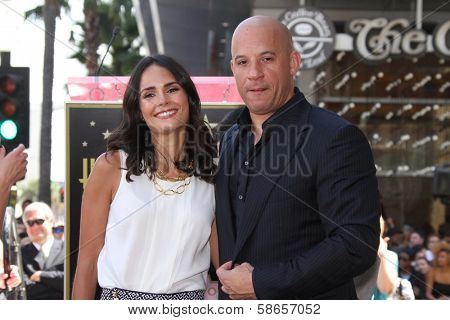 Jordana Brewster, Vin Diesel at the Vin Diesel Star on the Hollywood Walk of Fame Ceremony, Hollywood, CA 08-26-13