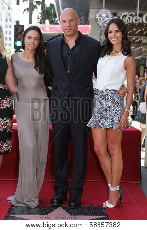 Jordana Brewster, Vin Diesel and Michelle Rodriguez at the Vin Diesel Star on the Hollywood Walk of Fame Ceremony, Hollywood, CA 08-26-13