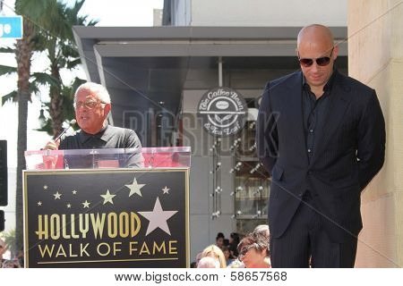 Ron Meyer, Vin Diesel at the Vin Diesel Star on the Hollywood Walk of Fame Ceremony, Hollywood, CA 08-26-13