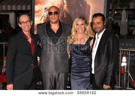 David Twohy, Vin Diesel, Katee Sackhoff, Jordi Molla at the