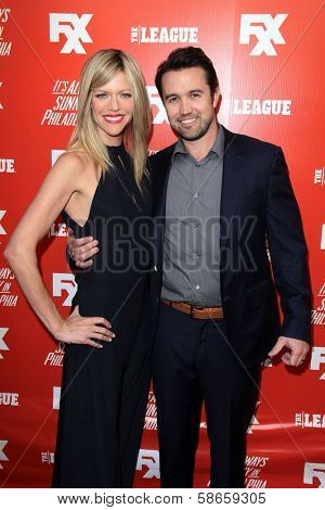 Kaitlin Olson and Rob McElhenney at the FXX Network Launch Party and