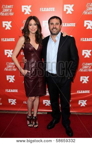 Jackie Marcus Schaffer and Jeff Schaffer at the FXX Network Launch Party and