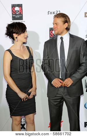 Maggie Siff and Charlie Hunnam at the