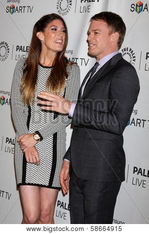 Jennifer Carpenter and Michael C. Hall at the PaleyFest Fall Previews:  Fall Farwell -