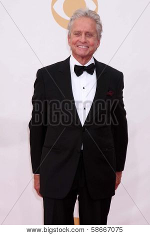 Michael Douglas at the 65th Annual Primetime Emmy Awards Arrivals, Nokia Theater, Los Angeles, CA 09-22-13