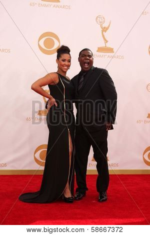 Tracy Morgan and Sabina Morgan at the 65th Annual Primetime Emmy Awards Arrivals, Nokia Theater, Los Angeles, CA 09-22-13