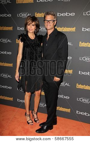 Lisa Rinna and Harry Hamlin at the 2013 Entertainment Weekly Pre-Emmy Party, Fig& Olive, Los Angeles, CA 09-20-13