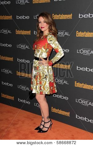 Alyssa Milano at the 2013 Entertainment Weekly Pre-Emmy Party, Fig& Olive, Los Angeles, CA 09-20-13