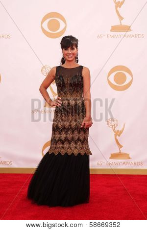 Constance Zimmer at the 65th Annual Primetime Emmy Awards Arrivals, Nokia Theater, Los Angeles, CA 09-22-13