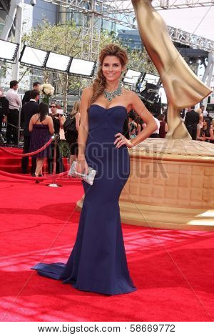 Maria Menounos at the 65th Annual Primetime Emmy Awards Arrivals, Nokia Theater, Los Angeles, CA 09-22-13