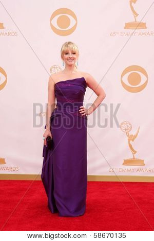 Melissa Rauch at the 65th Annual Primetime Emmy Awards Arrivals, Nokia Theater, Los Angeles, CA 09-22-13