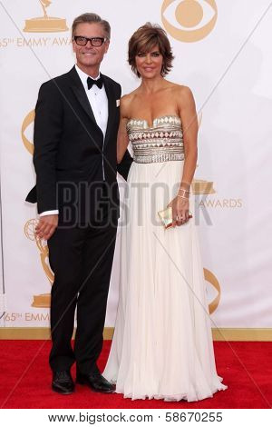 Harry Hamlin and Lisa Rinna at the 65th Annual Primetime Emmy Awards Arrivals, Nokia Theater, Los Angeles, CA 09-22-13