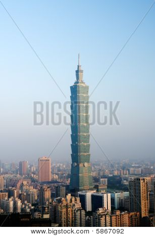 Morning Cityscape Of Taipei