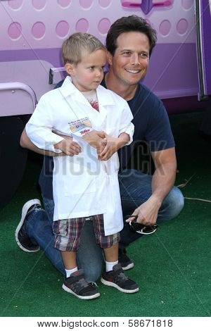 Scott Wolf and son Jackson Kayse Wolf at Disney Junior's