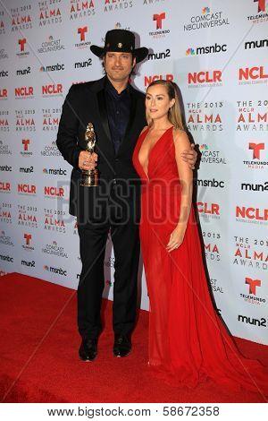 Robert Rodriguez and Alexa Vega at the 2013 NCLR ALMA Awards Press Room, Pasadena Civic Auditorium, Pasadena, CA 09-27-13