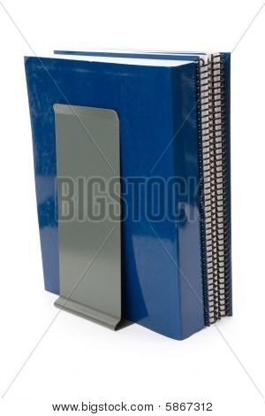 Blue School Textbook And Bookend