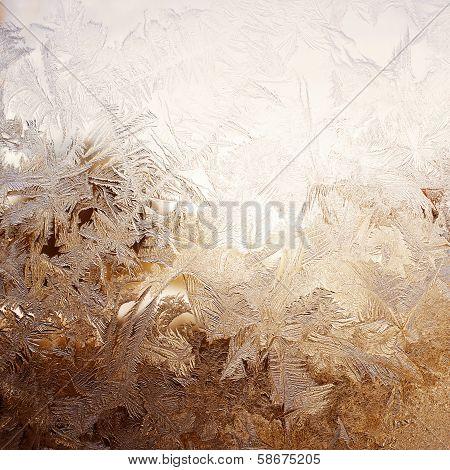 Snow pattern on window