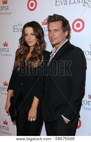 Kate Beckinsale and Len Wiseman at the Eva Longoria Foundation Dinner, Beso, Hollywood, CA 09-29-13