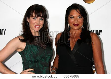 Danielle Bisutti and Sara Ramirez at the