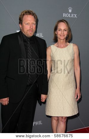 Matthew Carnahan and Helen Hunt at the Walt Disney Concert Hall 10th Anniversary Celebration, Walt Disney Concert Hall, Los Angeles, CA 09-30-13